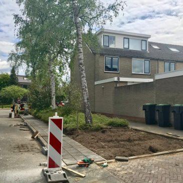 Aanbiedplaatsen containers in Retiefstraat en De la Reystraat.